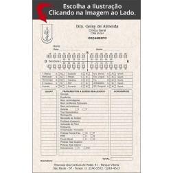 Orçamento Odontológico - Modelo B - Reciclado / Eco