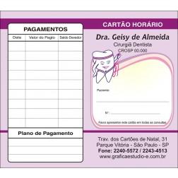 Carteirinha de Próxima Consulta e Pagamento Personalizado - Cod: 046