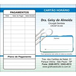 Carteirinha de Próxima Consulta e Pagamento Personalizado - Cod: 048
