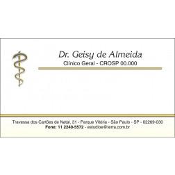 Cartão de Visita com Verniz - Cod: 049