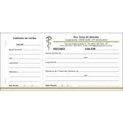 Recibo com Canhoto Colorido - Cod: 049