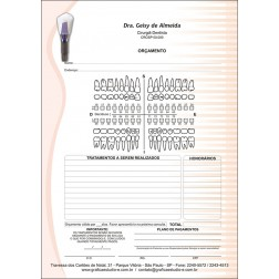 Orçamento Colorido - Modelo A - Cod: 050