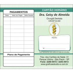 Carteirinha Próxima Consulta e Pagamento Personalizado 001