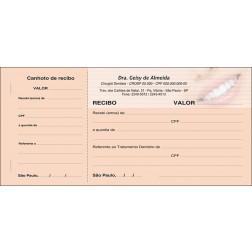 Recibo com Canhoto Colorido - Cod: 056