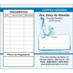 Carteirinha Próxima Consulta e Pagamento Personalizado 057