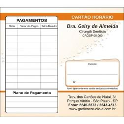 Carteirinha de Próxima Consulta e Pagamento Personalizado - Cod: 061