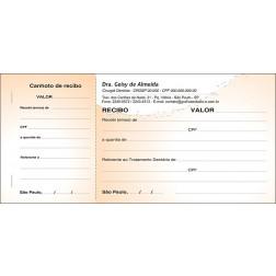 Recibo com Canhoto Colorido - Cod: 061