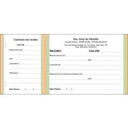 Recibo com Canhoto Colorido - Cod: 064