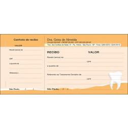 3 Blocos de Recibo com Canhoto Colorido - Cod: 069