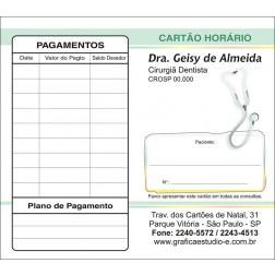 Carteirinha de Próxima Consulta e Pagamento Personalizado - Cod: 102