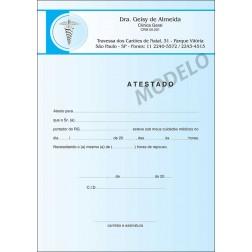 Atestado Médico Colorido - Cod: M015 Azul