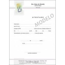 Atestado Médico Colorido - Cod: M016