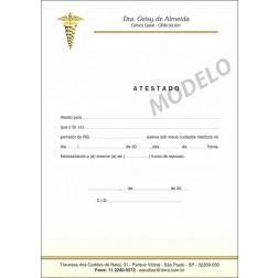 Atestado Médico Colorido - Cod: M049