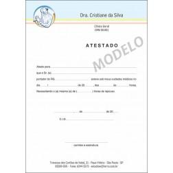 Atestado Médico Colorido - Cod: M104