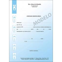 Atestado Odontológico Colorido - Cod: 004 Azul CB