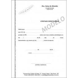 Atestado Odontológico Colorido - Cod: 008