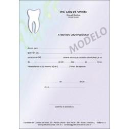 Atestado Odontológico Colorido - Cod: 014