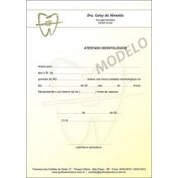 Atestado Odontológico Colorido - Cod: 021 Amarelo