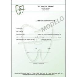 Atestado Odontológico Colorido - Cod: 021 Verde
