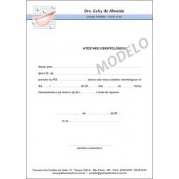 Atestado Odontológico Colorido - Cod: 033