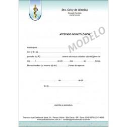 Atestado Odontológico Colorido - Cod: 035