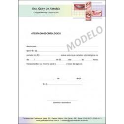 Atestado Odontológico Colorido - Cod: 036
