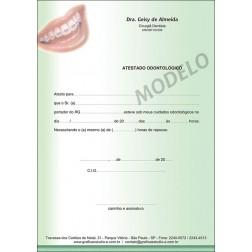 Atestado Odontológico Colorido - Cod: 038