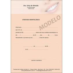 Atestado Odontológico Colorido - Cod: 056