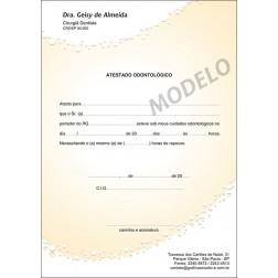 Atestado Odontológico Colorido - Cod: 061