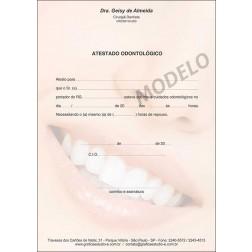 Atestado Odontológico Colorido - Cod: 063