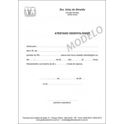 Atestado Odontológico PB - 037