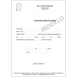 Atestado Odontológico PB - 045