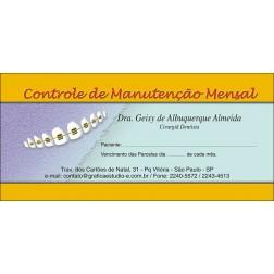 200 Carnês de Ortodontia - 001 - Capa Rosa