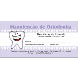 200 Carnês de Ortodontia - 007 - Capa Lilás