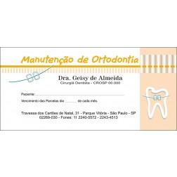 200 Carnês de Ortodontia - 008 - Capa Laranja