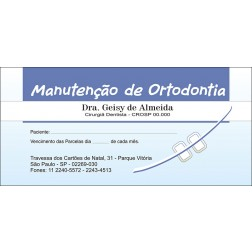 100 Carnês de Ortodontia - 009 - Capa Azul Claro