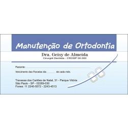 50 Carnês de Ortodontia - 009 - Capa Azul Claro