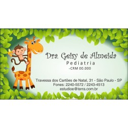 Cartão de Visita Médico com Verniz - Cod: M171