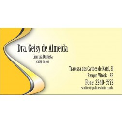 Cartão de Visita com Verniz - Cod: 072