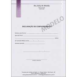Declaração Médica de Comparecimento Colorida - Cod: M010