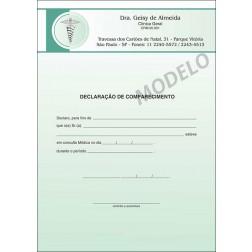 Declaração Médica de Comparecimento Colorida - Cod: M015 Verde