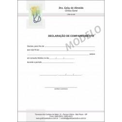 Declaração Médica de Comparecimento Colorida - Cod: M016