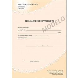 Declaração Médica de Comparecimento Colorida - Cod: M061