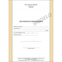 Declaração Médica de Comparecimento Colorida - Cod: M064