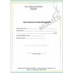 Declaração Médica de Comparecimento Colorida - Cod: M102