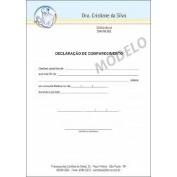 Declaração Médica de Comparecimento Colorida - Cod: M104