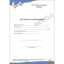 Declaração Médica de Comparecimento Colorida - Cod: M105