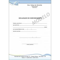 Declaração Médica de Comparecimento Colorida - Cod: M106