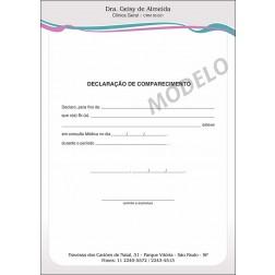 Declaração Médica de Comparecimento Colorida - Cod: M107