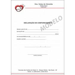 Declaração Médica de Comparecimento Colorida - Cod: M108
